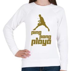 PRINTFASHION PingPongPlaya - Női pulóver - Fehér