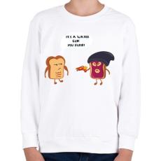 PRINTFASHION Pirítós fenyegetés - Gyerek pulóver - Fehér
