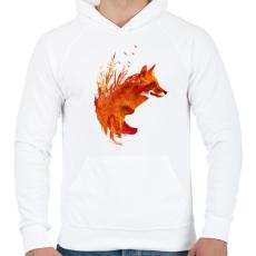 PRINTFASHION Plattensee fox - Férfi kapucnis pulóver - Fehér