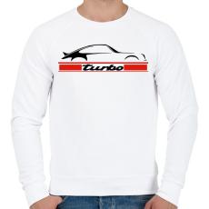 PRINTFASHION Porsche 911 turbo - Férfi pulóver - Fehér