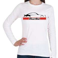 PRINTFASHION Porsche 911 turbo - Női hosszú ujjú póló - Fehér