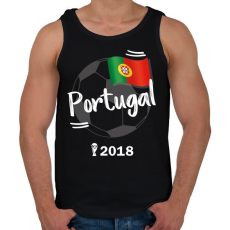 PRINTFASHION Portugália - Férfi atléta - Fekete