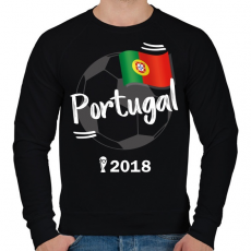 PRINTFASHION Portugália - Férfi pulóver - Fekete
