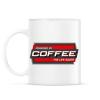 PRINTFASHION Powered by Coffee - Bögre - Fehér