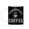 PRINTFASHION Powered by Coffee - Bögre - Fekete