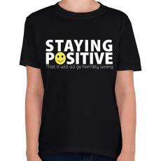 PRINTFASHION Pozitív - Gyerek póló - Fekete