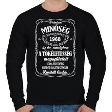 PRINTFASHION Prémium minőség, egyedi évszámmal! - Férfi pulóver - Fekete