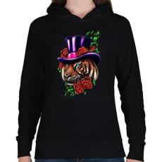 PRINTFASHION Presztízs - Női kapucnis pulóver - Fekete