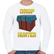 PRINTFASHION PUBG - Drop Hunter - Férfi pulóver - Fehér