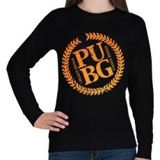 PRINTFASHION PUBG LOGO - Női pulóver - Fekete