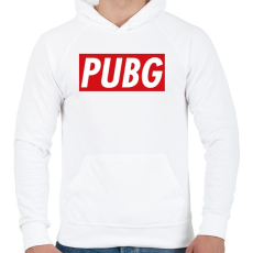 PRINTFASHION PUBG OBEY - Férfi kapucnis pulóver - Fehér