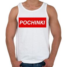 PRINTFASHION PUBG - Pochinki - Férfi atléta - Fehér