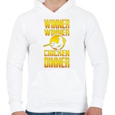 PRINTFASHION PUBG - WINNER (Gold) - Férfi kapucnis pulóver - Fehér