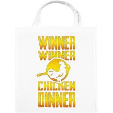 PRINTFASHION PUBG - WINNER (Gold) - Vászontáska - Fehér