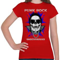 PRINTFASHION Punk rock - Női póló - Piros