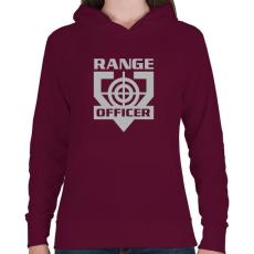PRINTFASHION Range Officer - Női kapucnis pulóver - Bordó