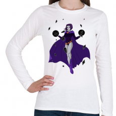 PRINTFASHION Raven - Tenn Titan - Női hosszú ujjú póló - Fehér