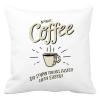 PRINTFASHION Reggeli kávé - Párnahuzat, Díszpárnahuzat - Fehér