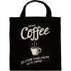 PRINTFASHION Reggeli kávé - Vászontáska - Fekete
