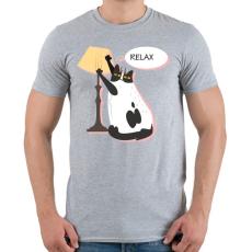 PRINTFASHION RELAX - Férfi póló - Sport szürke