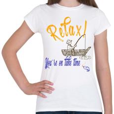 PRINTFASHION RELAX - Női póló - Fehér