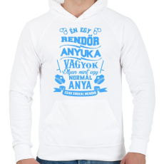 PRINTFASHION Rendőr Anyuka - Férfi kapucnis pulóver - Fehér
