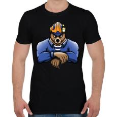 PRINTFASHION Rescue Bear - Férfi póló - Fekete