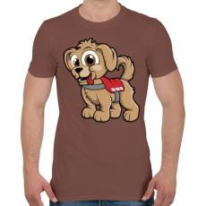 PRINTFASHION Rescue Puppy - Férfi póló - Mogyoróbarna