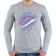 PRINTFASHION Retro csuka - Férfi hosszú ujjú póló - Sport szürke