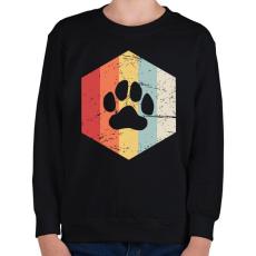 PRINTFASHION Retro medvemancs - Gyerek pulóver - Fekete