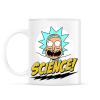 PRINTFASHION Rick a tudós - Bögre - Fehér