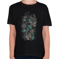 PRINTFASHION Robothalak - Gyerek póló - Fekete