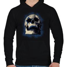 PRINTFASHION ROCK SKULL - Férfi kapucnis pulóver - Fekete