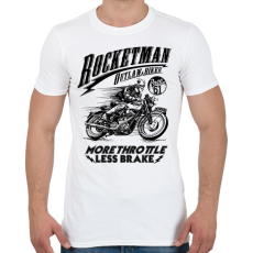 PRINTFASHION Rocketman - Férfi póló - Fehér