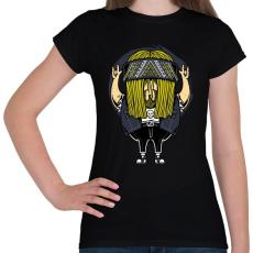 PRINTFASHION Rokker - Női póló - Fekete