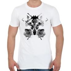PRINTFASHION Rorschach - Férfi póló - Fehér