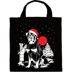PRINTFASHION Rottweiler Karácsony - Vászontáska - Fekete