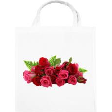 PRINTFASHION Rózsa - Vászontáska - Fehér