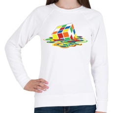 PRINTFASHION Rubik Kocka - Női pulóver - Fehér