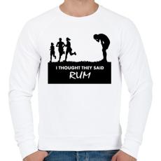 PRINTFASHION RUM! - Férfi pulóver - Fehér