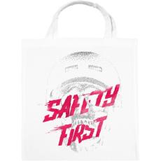 PRINTFASHION Safety first - Vászontáska - Fehér