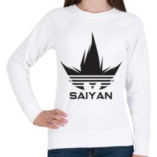 PRINTFASHION Saiyan - Női pulóver - Fehér