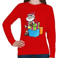 PRINTFASHION Santa - Női pulóver - Piros