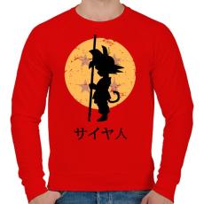 PRINTFASHION Sárkánygömb keresés - Férfi pulóver - Piros