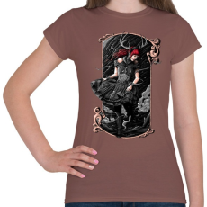 PRINTFASHION Scarlet - Női póló - Mogyoróbarna