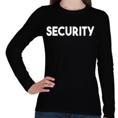 PRINTFASHION SECURITY - Női hosszú ujjú póló - Fekete