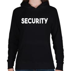 PRINTFASHION SECURITY - Női kapucnis pulóver - Fekete