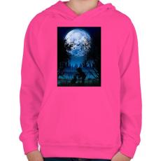 PRINTFASHION Sejtelmes holdfény - Gyerek kapucnis pulóver - Fukszia