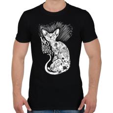 PRINTFASHION Senki nem tökéletes - Férfi póló - Fekete
