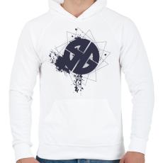 PRINTFASHION sgb1bk.png - Férfi kapucnis pulóver - Fehér